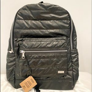 (FREE LANYARD)Quilted polyester PINK backpack and